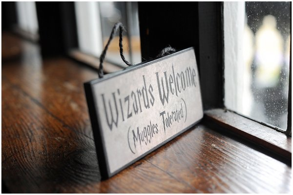 A Harry Potter themed wedding, absolute magic!