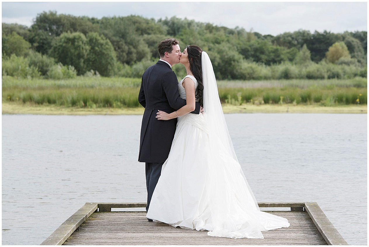 Bride and groom bridal portraits at Brockholes in Preston. Lancashire wedding photographer.
