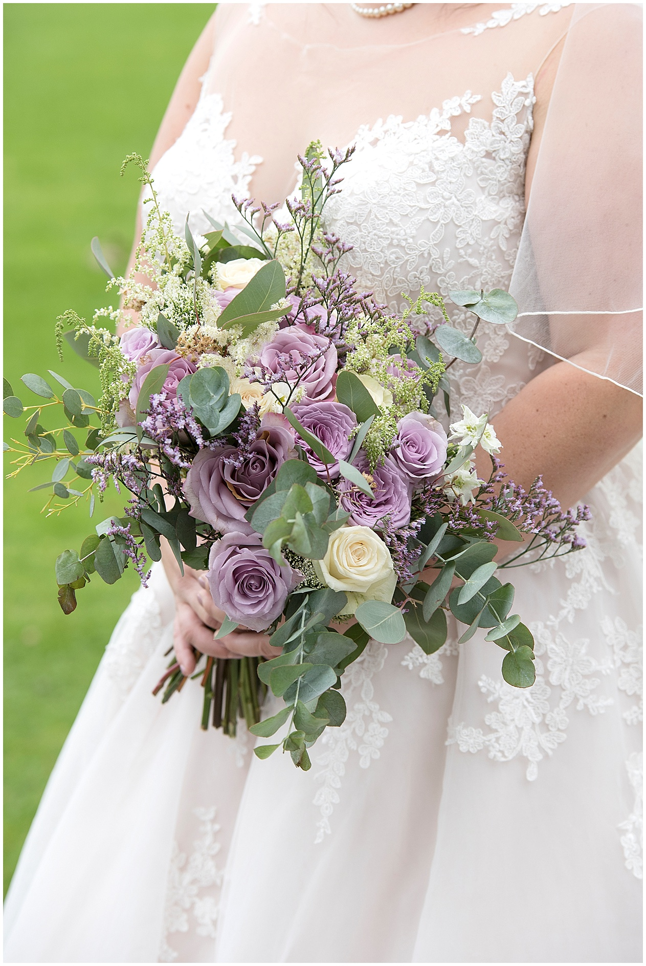 Pretty purple wedding day flowers. Strike House wedding photography