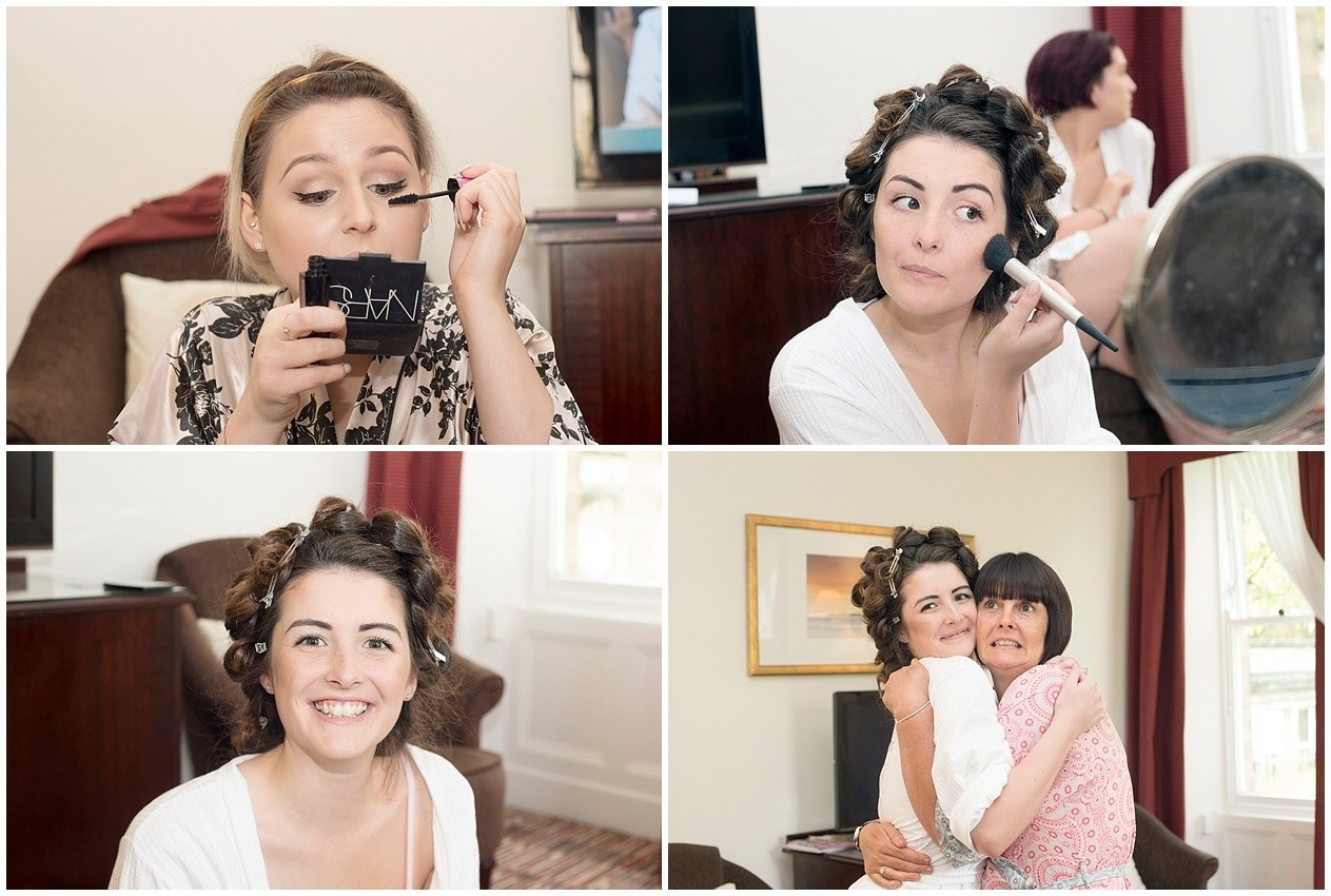 Bride gets ready on her wedding day in Harrogate