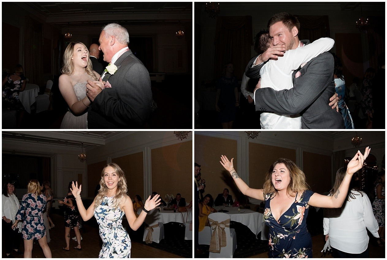 Guests on the dance floor. Yorkshire wedding photographer