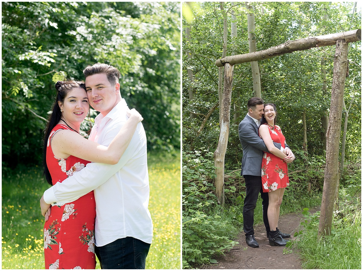 A summers day engagement shoot at Brockholes nature reserve in Preston.