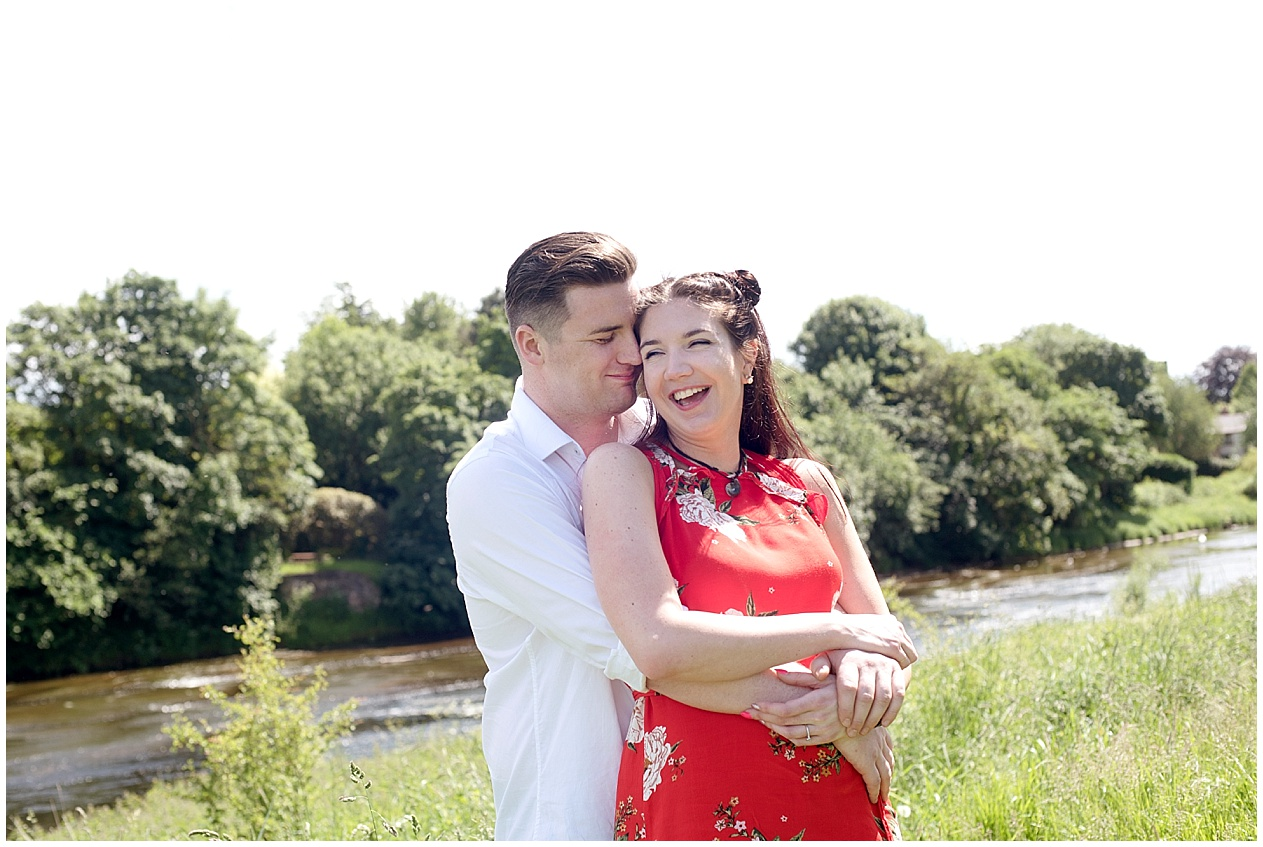 Preston Wedding photographer. Bride and groom pictured at Brockholes nature reserve.