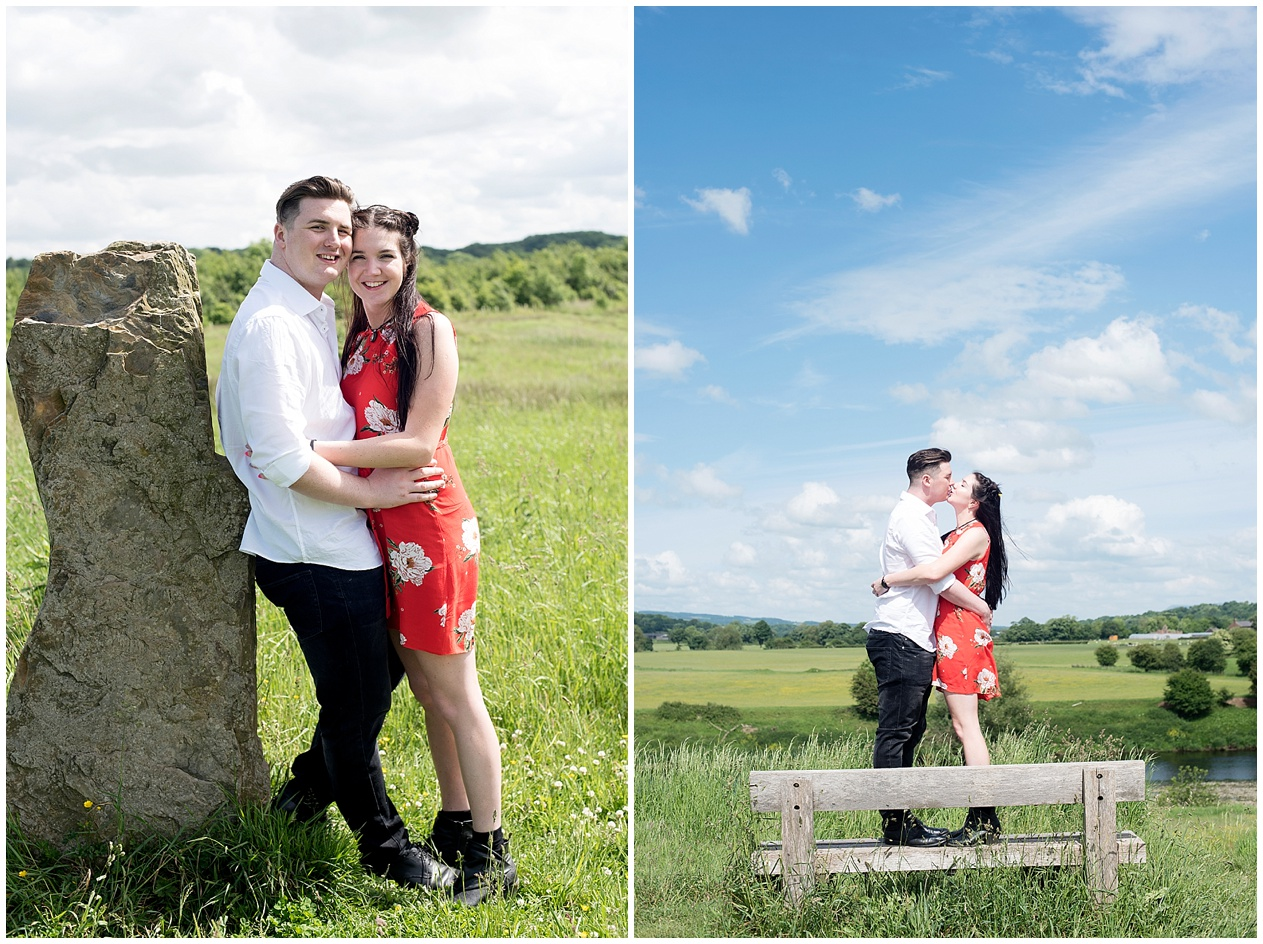A summers day pre wedding shoot at Brockholes nature reserve in Preston. Lancashire wedding photographer.