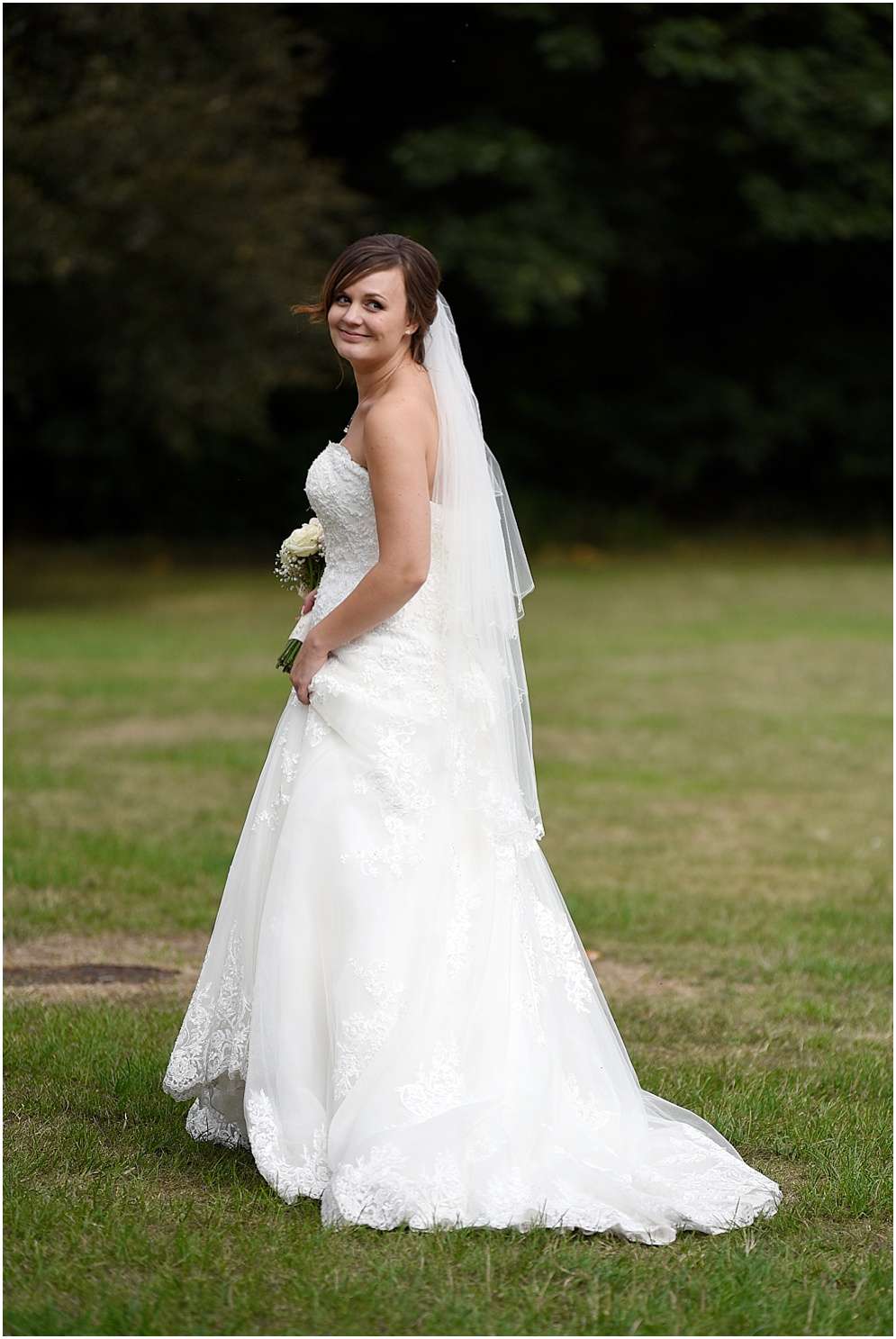 Beautiful bride pictured on her wedding day.