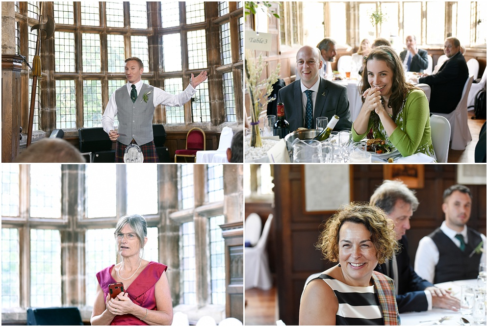 Guests enjoying the speeches at Hoghton Tower in Lancashire.