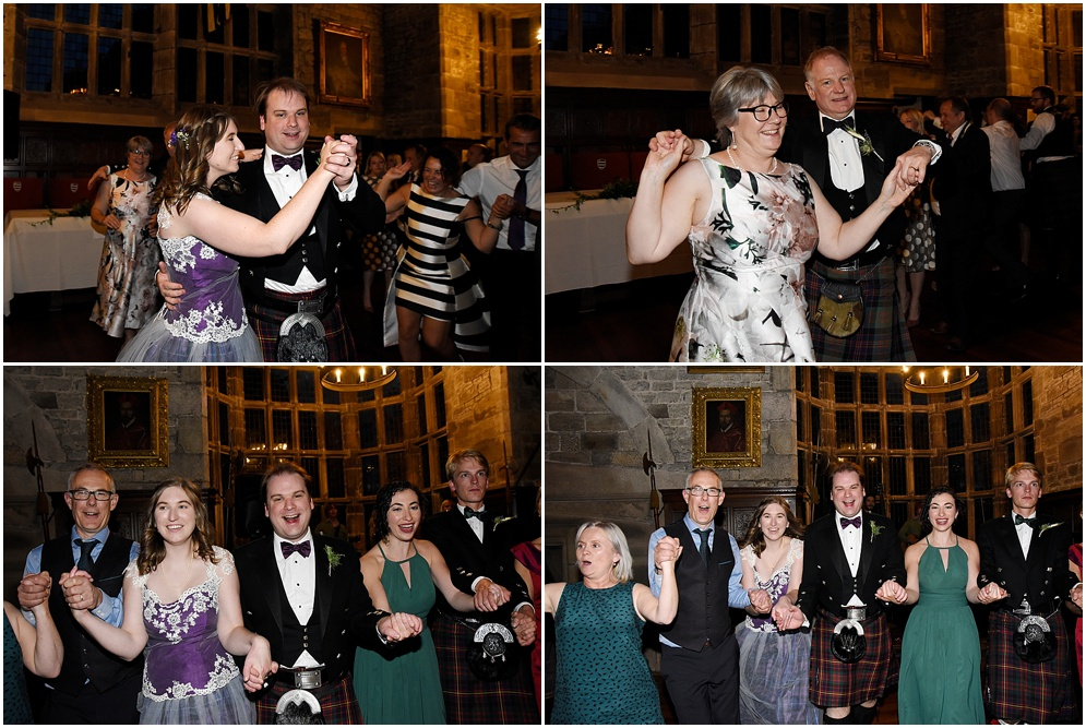 Wedding at Hoghton Tower. Guests hit the dance floor.