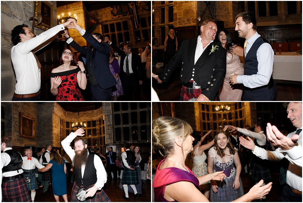 Wedding guests on the dance floor Wedding photographer in Lancashire.