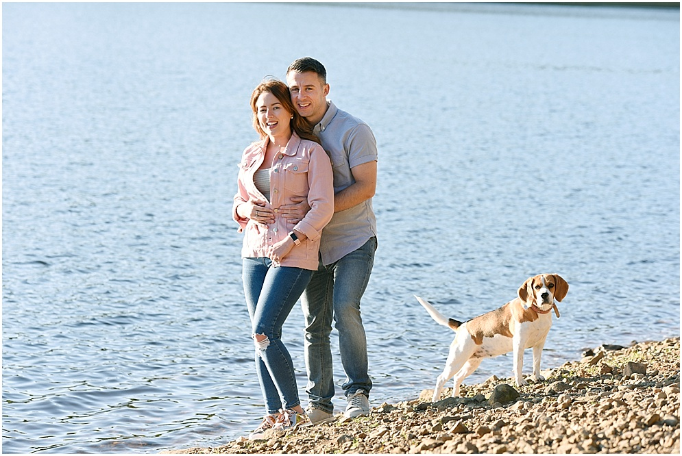 Couple pictured at Greeenbooth reservoir in Rochdale with their dog.